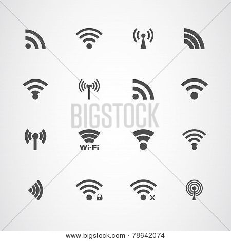 Wi Fi icons set