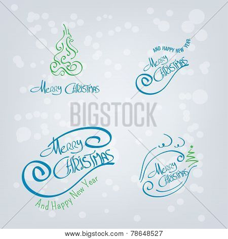 Merry Christmas Hand Drawn Elements