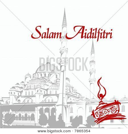 Aidilfitri Greeting Card