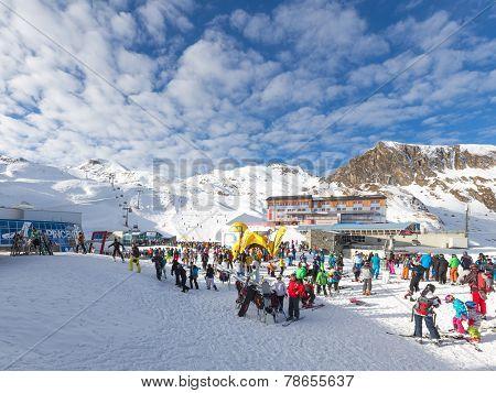 Ski Resort On A Glacier