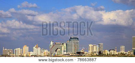 Panoramic View of the Tel Aviv, Israel. poster