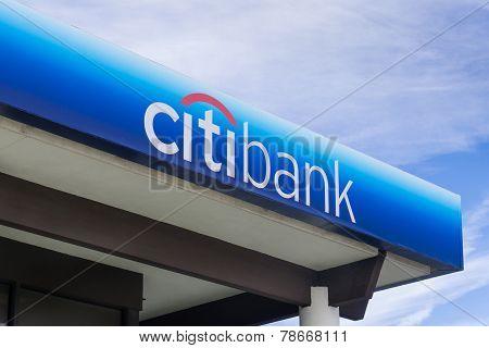 Citibank Bank Exterior And Sign