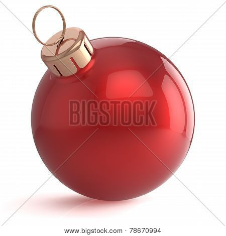 Christmas Ball New Years Eve Ornament Decoration Red