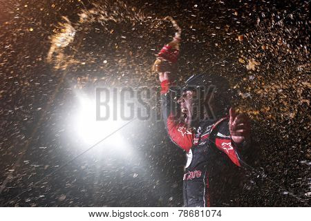 Rossburg, OH - Jul 23, 2014:  Darrell Wallace Jr (54) wins the