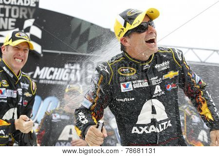 Brooklyn, MI - Aug 17, 2014:  Jeff Gordon (24) wins the Pure Michigan 400 at Michigan International Speedway in Brooklyn, MI.