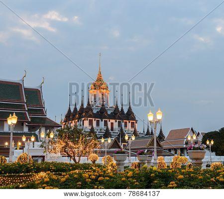 Loha Prasat (metal Castle) In Bangkok, Thailand