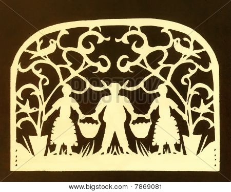 Jewish Traditional Retro Paper-cut