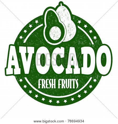 Avocado Stamp