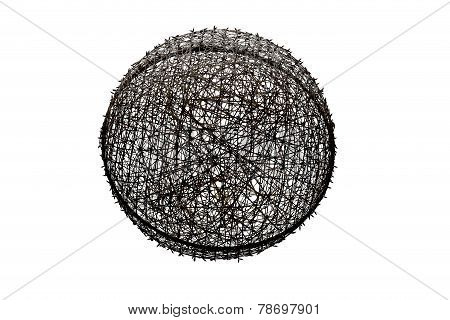 Incredible Ball Of Tangles Suspended In White Background