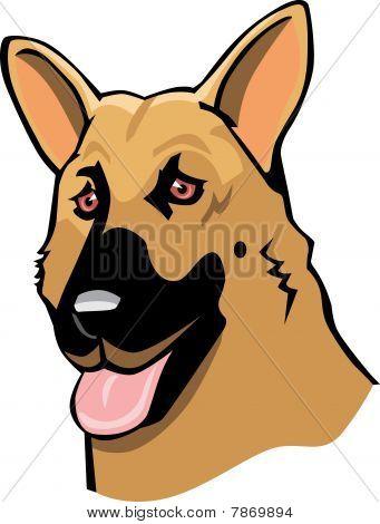 German Shepherd Cartoon