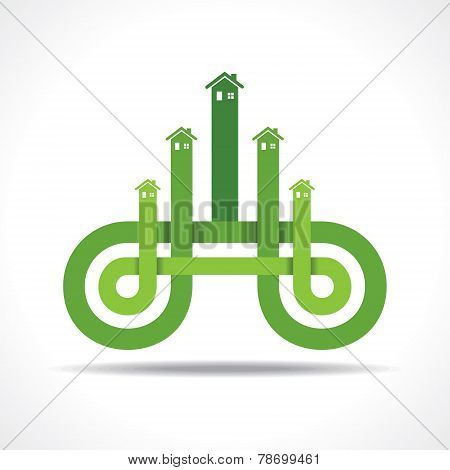 Business icon with home stock vector