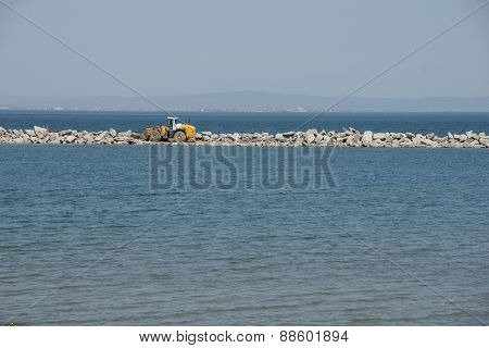 construction of seawall