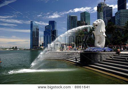 Singapore, August, 29, 2010 - Merlion.