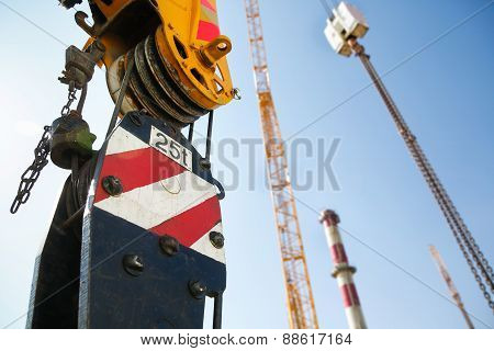 Pulley Of A Mobile Lifting Crane