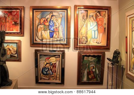Contemporary Paintings At Art Gallery In Saint Paul De Vence