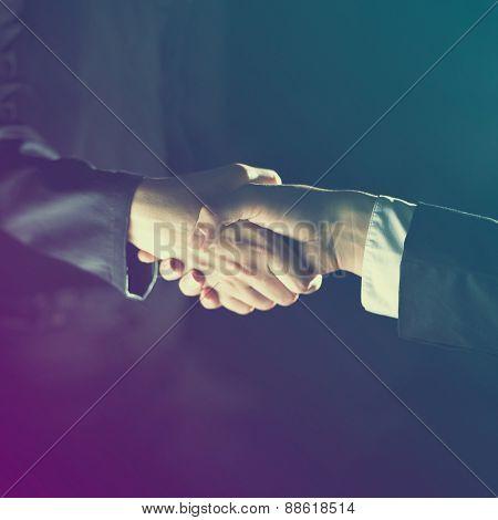 Handshake Handshaking dark and light