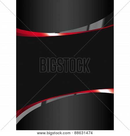 Black Background With Glossy Elements