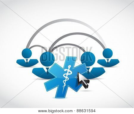 People Network And Medical Symbol Concept