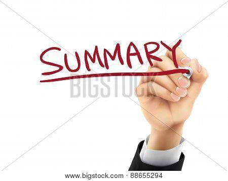 Summary Written By 3D Hand