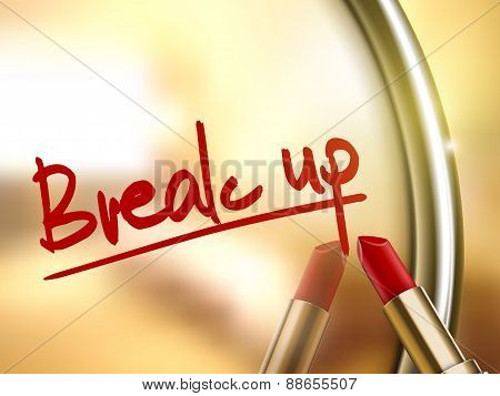 Break Up Words Written By Red Lipstick