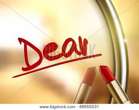 Dear Word Written By Red Lipstick