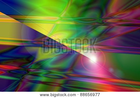 Colorful Abstract And Background Texture With Lens Flare