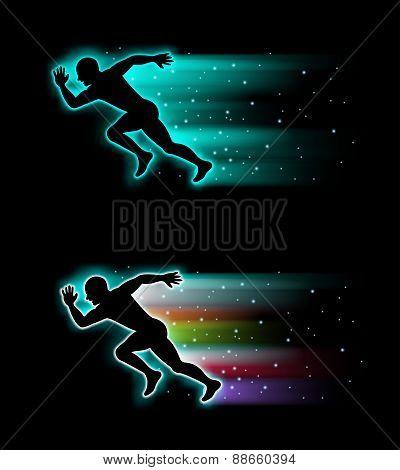 Vector of  running