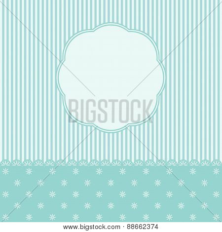 Template Of Greeting Card Or The Invitation.