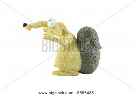 Scrat Toy Character From Ice Age Animation Film.