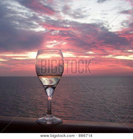 Savoring Sunset At Sea