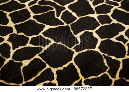 Giraffe reticulated textile background and texture . poster