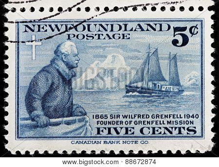 Wilfred Grenfell Stamp