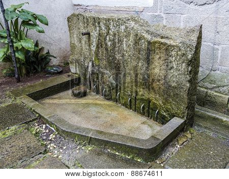 Typical Washing Feet In Galicia