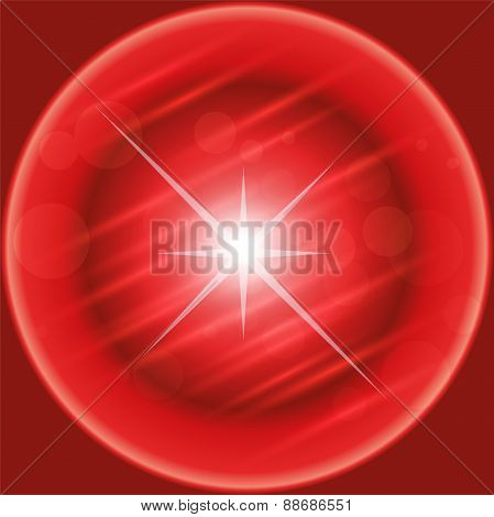 Background illustration in red with white star light