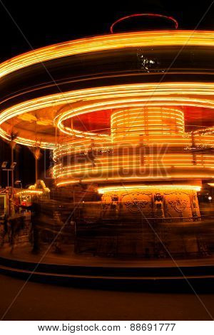 Carousel at night, Paris
