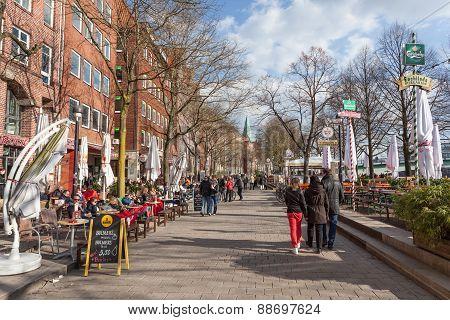 Promenade In Bremen, Germany