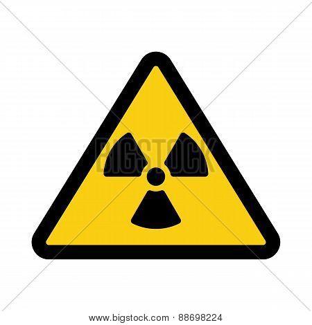 The Radiation Icon. Radiation Symbol. Flat