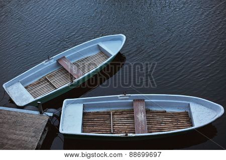 Two Rowing Boats