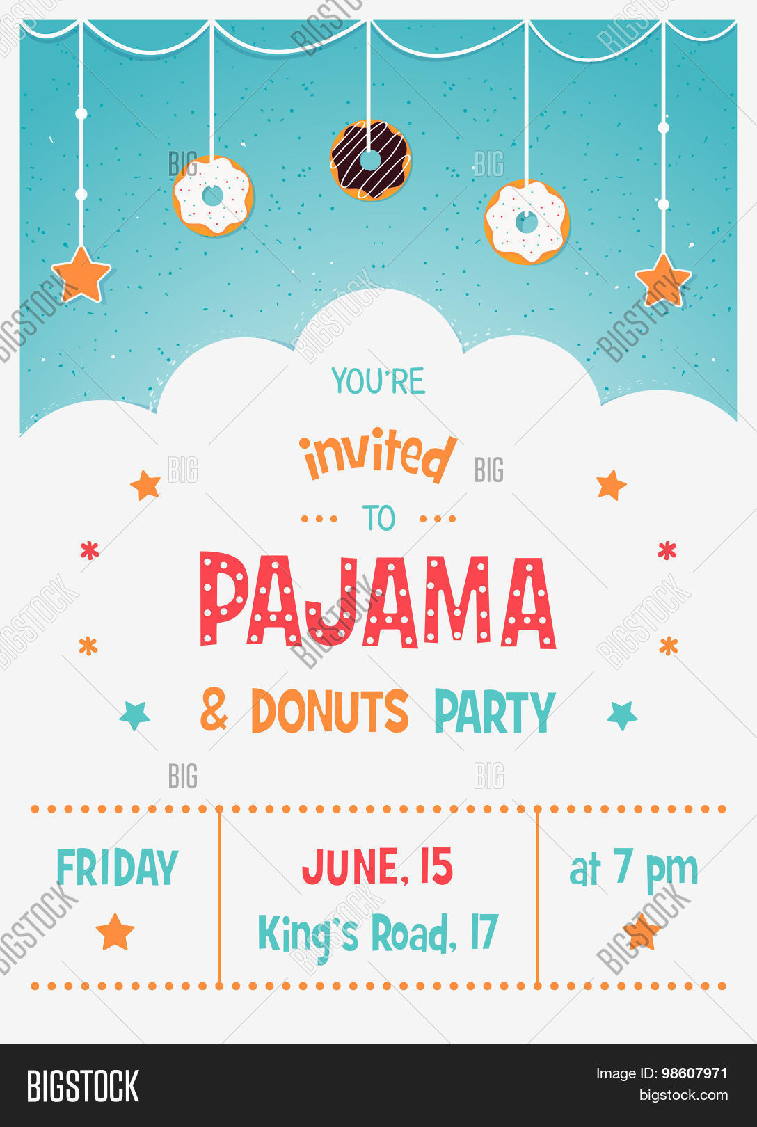 Pajama Donuts Kids\' Vector & Photo (Free Trial) | Bigstock