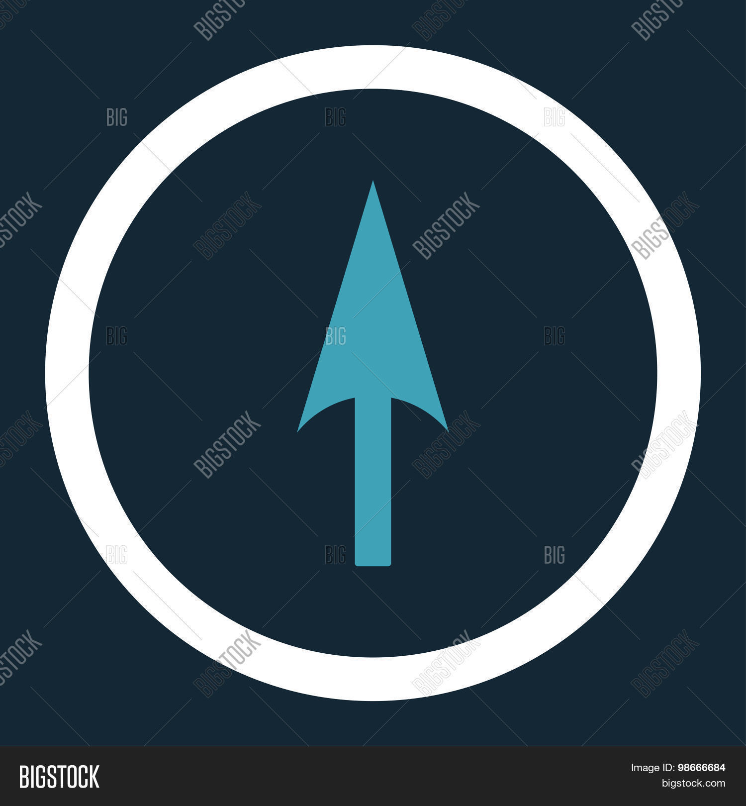 Vector Y Foto Arrow Axis Flat Prueba Gratis Bigstock Line Blue And White Colors Rounded Icon
