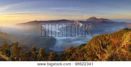Bromo Volcano At Sunrise, East Java, Indonesia