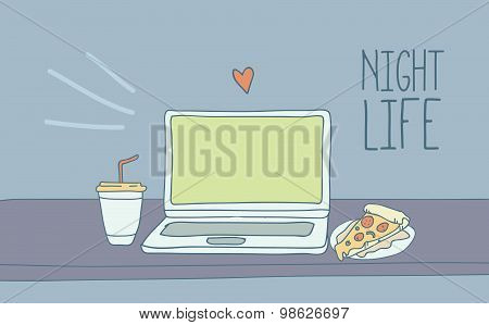 Laptop - Night Life