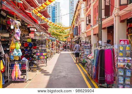 The Stall In China Town, Singapore