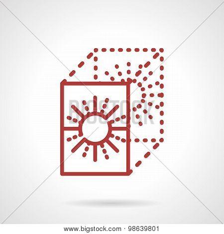 Transfer paper line vector icon