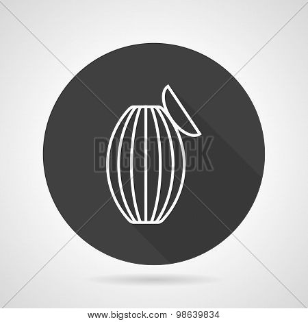 Ambu bag black round vector icon