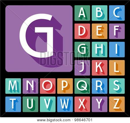 Elegant minimalistic vector alphabet in artdeco style. Uppercase letters