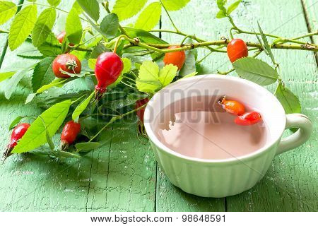 Useful Enriched Tea With Rosehip