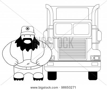 Fat cargo driver. Contour