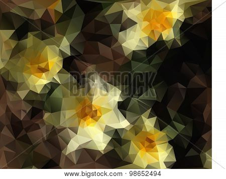 Abstract floral polygonal background