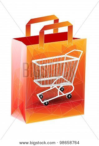Shopping Bag With Cart